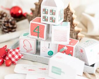 Snowflake  Adventskalender zum Befüllen für kleine Geschenke wie Pralinen, Schmuck, Teelichter etc... ideal für Mama, Freundin oder Oma