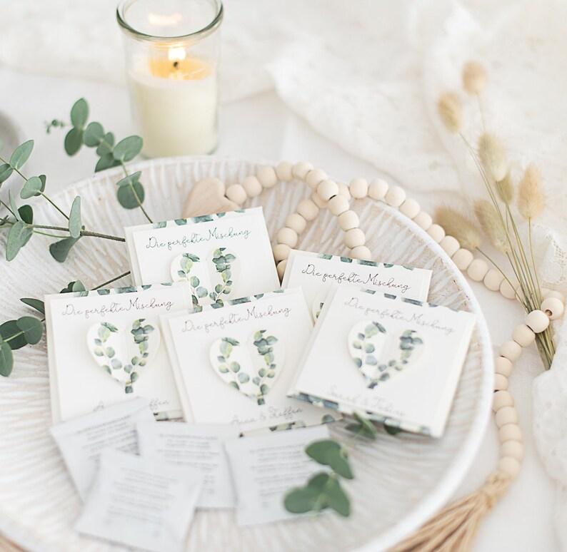 Gastgeschenke mit Blumensamen Eukalyptus zur Hochzeit  Bild 0