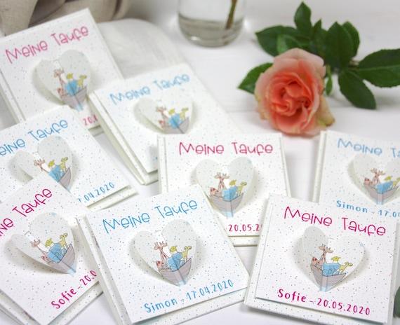 5 Stück Gastgeschenke Zur Taufe Mit Blumensamen Arche Noah