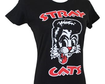 Vtg Stray Cats T/Rockabilly/Fits Close to: S-S/M