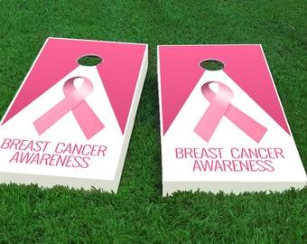 Cancer Awareness Cornhole Wrap Set Fast Shipping!!