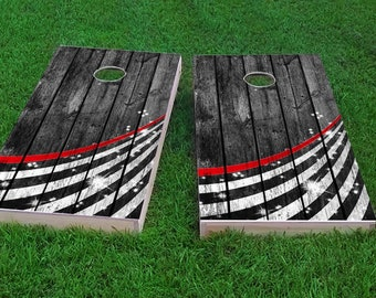 Fire Fighter Corn hole Bags with Carrying Case