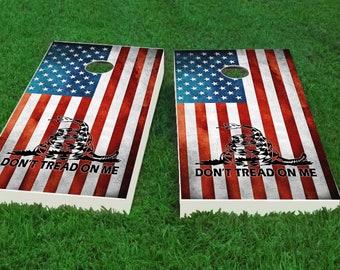 American Eagle Woodslat Custom Cornhole Board Game Set