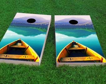 Corn Hole Mountain Climber Light Weight Bag Toss 1x4 Regulation Size Custom Cornhole Board Game Set