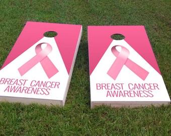 1x4 Brain Cancer Awareness Themed Light Weight Regulation Size Custom Cornhole Board Game Set Bag Toss Corn Hole