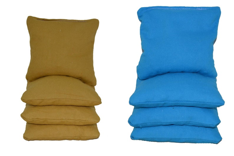 Gold /& Turquoise 12oz Duck Cloth Cornhole Bags Whole Kernel Corn or All Weather Plastic Resin Filled ACA Certified Fast Ship