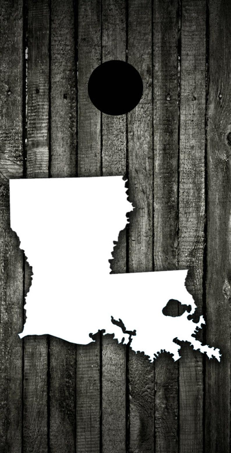 Corn Hole Bag Toss Regulation Size Custom Cornhole Board Game Set Wood Louisiana Themed Light Weight 1x4