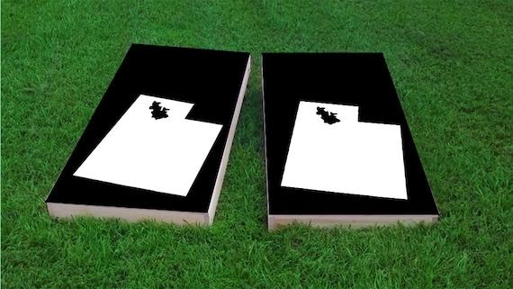 Bean Bag Toss White Washington Themed 2x4 Custom Cornhole Board Set with bags Custom Corn Hole Corn Toss Bag Toss