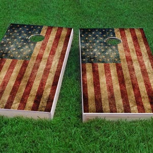 Maryland State Flag Themed Custom Cornhole Board Game Set Made in the USA!