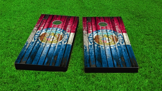 Regulation Size and ACA Certified Worn /& Distressed New York State Flag Wood Slat Custom Cornhole Boards Game Set Includes Bags!