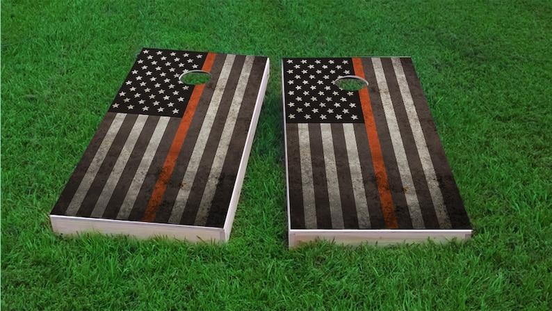 Thin ACU Corn Hole EMS Flag 1x4 Regulation Size Custom Cornhole Board Game Set Bag Toss