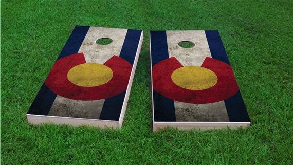 Corn Hole Worn State Flag Alabama Bag Toss 1x4 Regulation Size Custom Cornhole Board Game Set