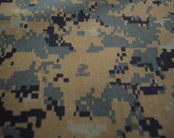 951ea1fe0329f Marpat Woodlands Digital Military Camouflage Fabric USMC Logo NY/CO Twill (  50 Nylon/50 Cotton) 64