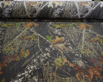 """Mossy Oak New Breakup 100% Cotton Sheeting Hunting Camouflage Fabric 59"""" Wide By The Yard 36"""" Long"""