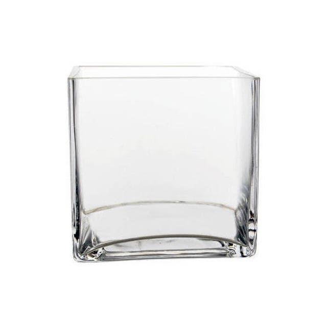 12 Pack Clear Square Cube Glass Vase 5 Inch 5 X 5 Etsy