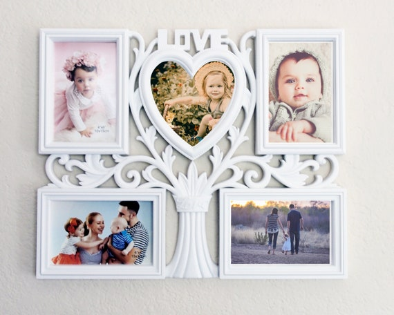 Multi Opening Photo Frame LOVE TREE White Collage Frame, Photo Frame,  Decorative Wall Hanging Collage Picture Frame , White