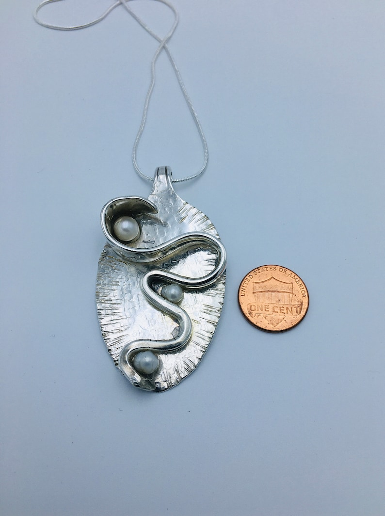 Snake Pendant Snake on the silver Spoon gift for her Silver Spoon Snake Pendant Spoon Pendant