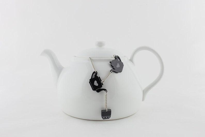 Tea Necklace Tea Cup Jewelry Coffee cup Acrylic Necklace image 0