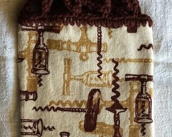 Corkscrews Hanging Kitchen Towel with Universal Hang