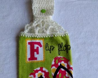 Flip Flop Hanging Kitchen Towel with Universal Hanging
