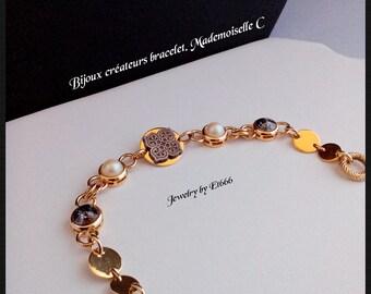 Bijoux créateurs bracelet. Mademoiselle C