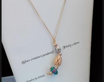 Bijoux créateurs pendentif. Trinity colors