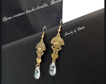 Creative jewelry earrings. Far horizon