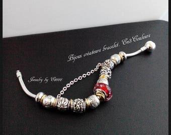 Creative jewelry bracelet. En3Couleurs