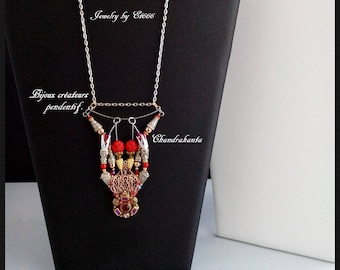 Creative jewelry pendant. Chandrakanta