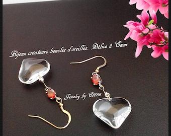 Creative jewelry earrings. Delight 2 Heart