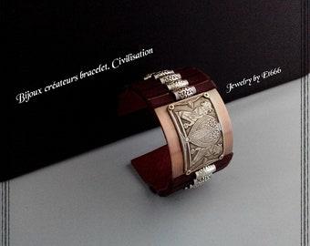 Bijoux créateurs bracelet. Civilisation