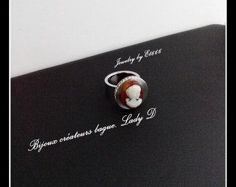 Bijoux créateurs bague. Lady D