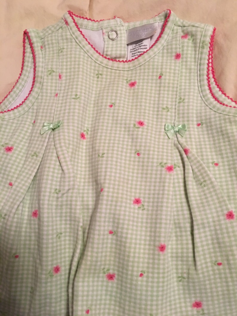 Vintage Carters Baby Dress with Attached Panty Set Outfit Size 6 to 9 months in Excellent Condition