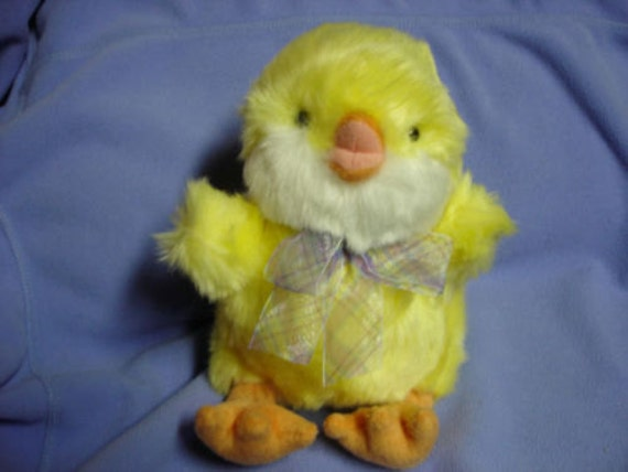 Vintage Yellow Chickles Plush Stuffed Animal Baby Chicken By Etsy