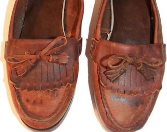 228e0426f7d eastland loafers- vintage shoes - womens shoes - womens loafers -preppy  shoes - 80s shoes - retro shoes - eastland shoes