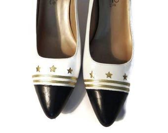 8e921435da1 bandolino shoes italy - bandolino pumps - bandolino heel - stars shoes  women - italian shoemaker shoes - italian shoes - vintage shoes -
