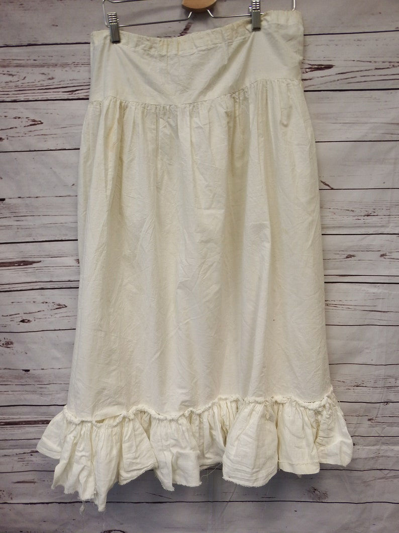 f11a61c1892ac petticoat skirt - womens cotton slip - petticoat slip - petticoat white -  vintage slip - ruffled slip