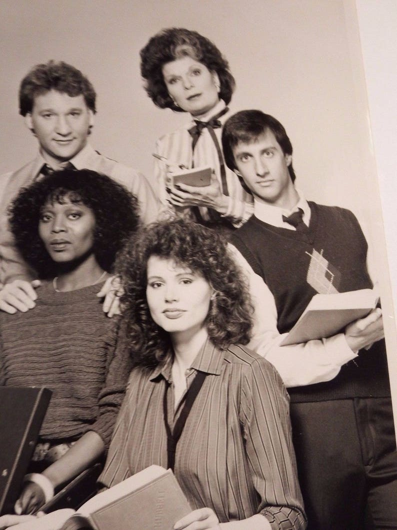 sara nbc sitcome - old tv shows -80s tv show - tv show collectibles - 80s  tv - black and white - vintage photos