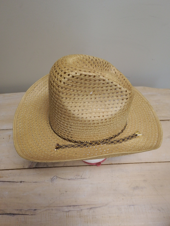 7596bc42d6425 Vintage cowboy hat cowboy hat men western hat men straw