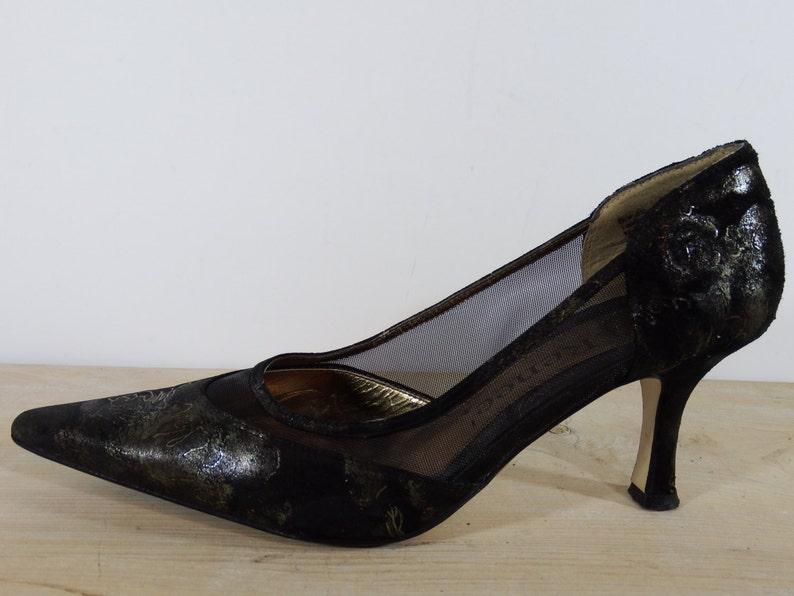 8a528c44089 J renee black shoes 8M high heels black pumps pumps