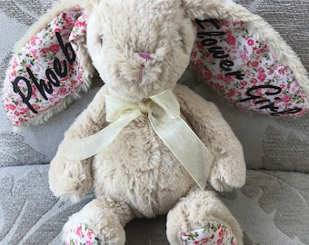 Bridesmaid gift/ Flower girl/ Personalised bunny/ Personalised soft toy/ bunny teddy