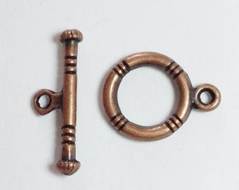 10 x Copper Toggle Clasps - Antique Copper Clasps - Copper Clasps - Bracelet Clasps - Necklace Clasps - Jewelry Findings - B20875
