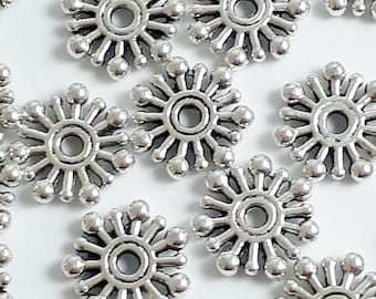 BULK 50 Spacer ring  beads silver plated FS245