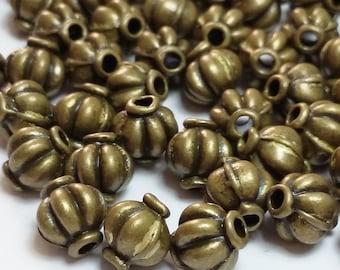 30pcs Antique Bronze Lantern Beads 7x6mm - B31953