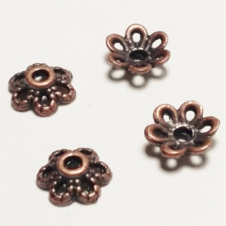 K10083 10pcs Antique Bronze Bead Caps 17mm Fits 18-20mm