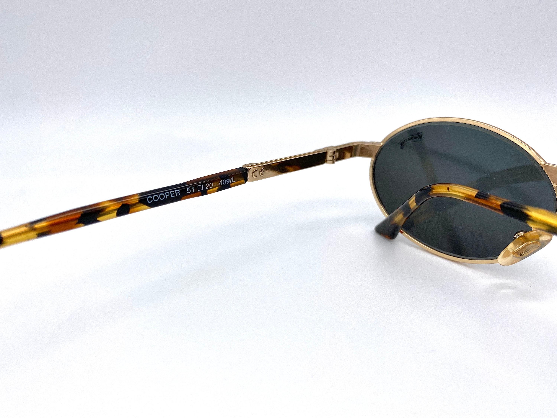 WINCHESTER mod. COOPER vintage gold black round Sunglasses