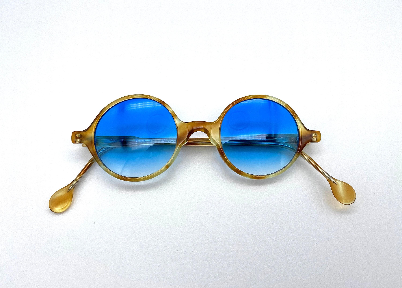 TAKURA mod. 21 vintage round Sunglasses planned in Japan 90S