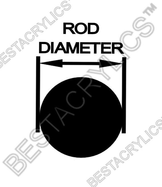 "5 pc CLEAR BLUE FLUORESCENT ACRYLIC PLEXIGLASS LUCITE ROD 1//4"" DIAMETER 24"" LONG"