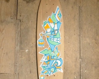 Tribal by Scondi - Handmade Oak Skateboard