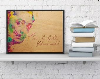 Salvador Dali Perfection quote print